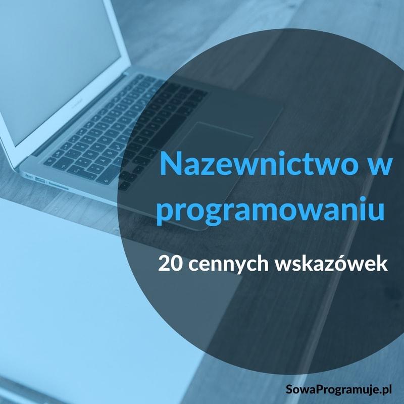 nazewnictwo w programowaniu